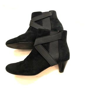 Cole Haan Nike Air Black Suede Booties - Size 7.5